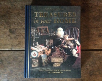 Vintage English book of antiques Readers Digest Treasures in your Home Printed 1993 / English Shop