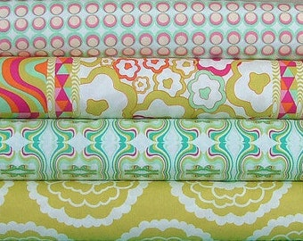 Fat Quarter Bundle of Carnaby Street in Teal by Pat Bravo for Art Gallery Fabrics - 5 LEFT