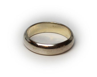 Sterling Silver Plain Wedding Band