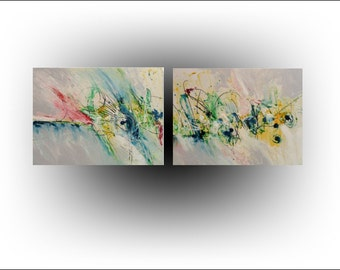 Original Painting Abstract - 18 x 48 - Skye Taylor