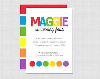 Rainbow Collection: Printable Invitation