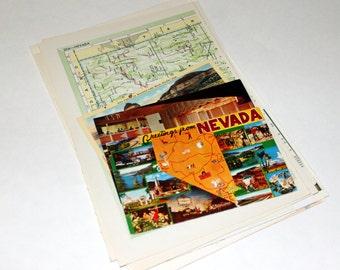 Nevada - United States Vintage Travel Collage Kit