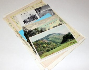 New Hampshire - United States Vintage Travel Collage Kit