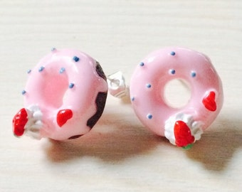 Adorable chocolate donut earrings
