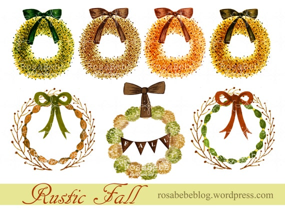 Items similar to Hand drawn fall clipart, thanksgiving ...