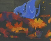 Fire with Blue Flame