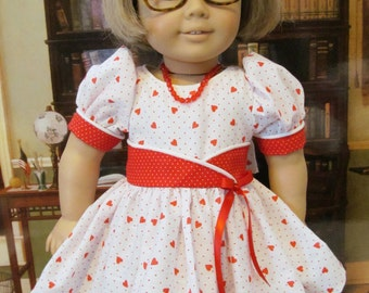 Doll Dress, Historical Dress , 1950 Dress,  18 inch Doll Clothes