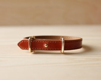 YC Fine Stitched Leather Bracelet(Brown)