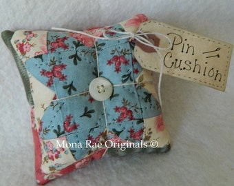Pin Cushion ~ Original Design Pin Keeper ~ Valentines Day Gift ~ Mothers Day Gift