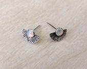 Opal Visions Arc Earrings | Sterling Silver | Stud Earring