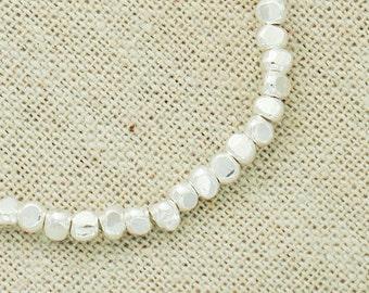 30 of Karen Hill Tribe Silver Facet Beads 3.5x3 mm. :ka3889
