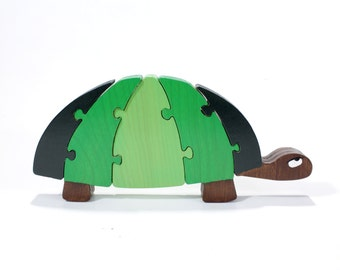 Turtle Decor and Puzzle in Green