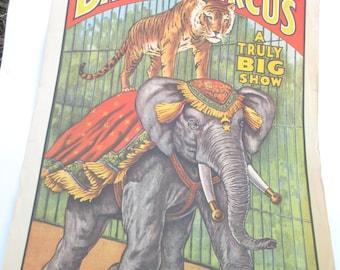 Vintage Al G Barnes Circus Poster 1960