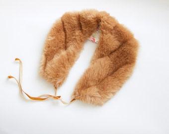 1960s Faux Fur Collar - 60s Faux Fur Wrap