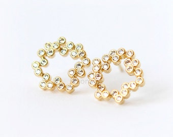 Petite Bubbles Earrings / choose your color / gold and silver