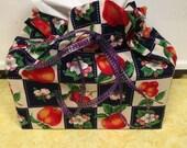 Peach - Tissue Cover - Cotton - Home Decor - Furnishings - Accesories - Country Decor - Novelty - Peach Print Tissue Box Cover Case