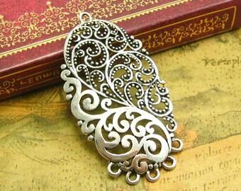 5 pcs Antique Silver Chandelier Earring Findings CH2128