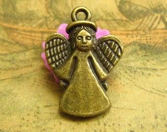 20 pcs Antique Bronze Angel Charms 25x17mm CH2220