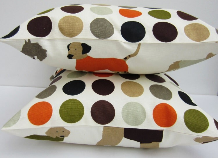 Set of Dog Themed Decorative Pillow Covers 16 by AllTheTrimmingsUK