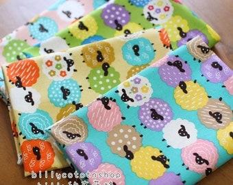 w72_55 - sheep fabrics - cotton linen - Half Yard ( 4 color )