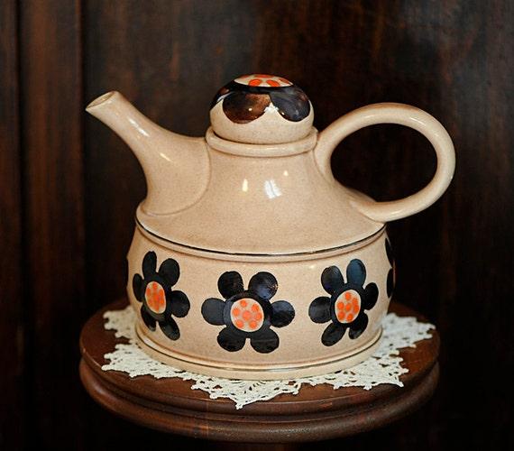 Vintage 1930's Hand Decorated Rosanna Art Pottery Teapot.. Zell Germany