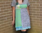 grey upcycled dress