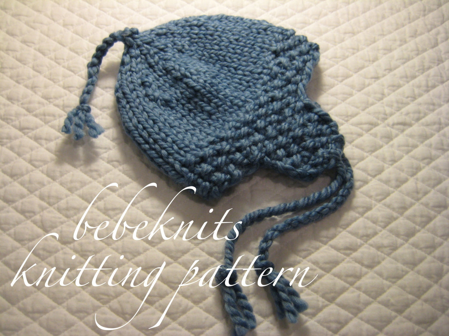 Knitting Pattern For Infant Hat With Ear Flaps : Bebeknits Quick Knit Ear Flap Baby Hat Knitting Pattern in 3