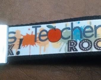 Teachers Rock Key Fob
