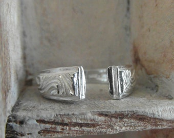hand hammered-unisex wedding band- promise-one of a kind ring-sterling silver- any size