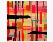 "Cotton Candy Glitter Ledge 10""x10"" original painting"