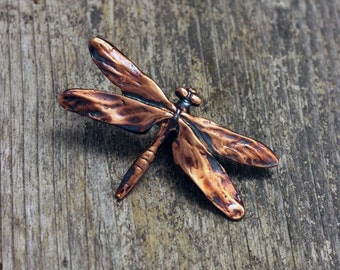 Dragonfly Brooch in copper