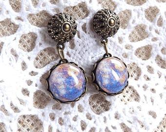 Mercury Dangle Earrings Modern Earrings Simple Dangle Earrings Galaxy Space Earrings Planet Earrings Elegant Statement Jewelry FREE SHIPPING
