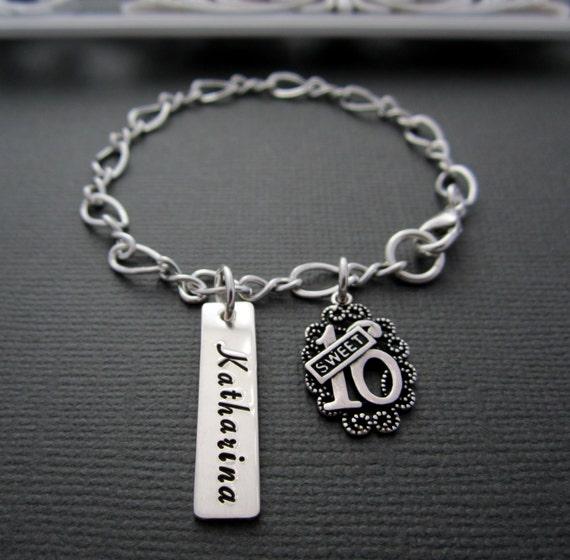 Sweet 16 Charm Bracelet: Jewelry Sweet 16th Bracelet Charm Bracelet By ShinyMetals