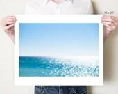 Gulf of Mexico seascape fine art photography print. Emerald Coast Florida photograph, abstract blue ocean decor, ethereal azure artwork