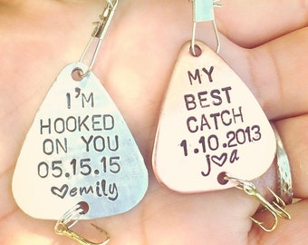 Fishing Lure, For Him, Boyfriend Gift, Father's Day Gift, Personalized Fishing Lure, Hand Stamped Fishing Lure, natashaaloha,