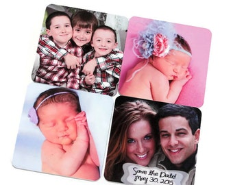 Custom Photo Magnets - Birth Announcements, Save the Dates - set of 4