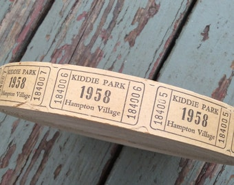 An Awesome Roll Of 1958 Kiddie Park Carnival Tickets