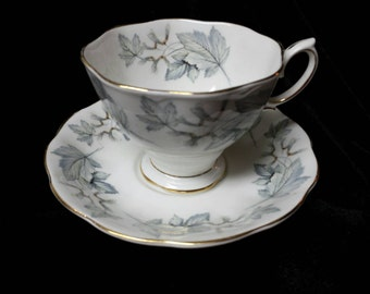 "Royal Albert ""Silver Maple"" Fine \bone China Cup andSaucers"