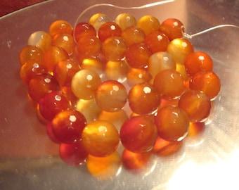 390 Cts Carnelian Round Beads Carnelian Beads Round Beads Orange Round Beads Orange Beads Orange Gemstones Gemstone Beads Round Beads Beads