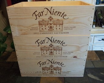 Far Niente / Wine Crate/ Napa Valley / Wedding Display / Wedding Decor/Wedding Card Holder/ Magazine Holder