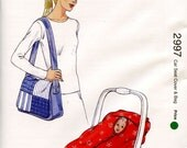 Sale - Kwik Sew Pattern - 2997 Baby Car Seat Cover & Bag