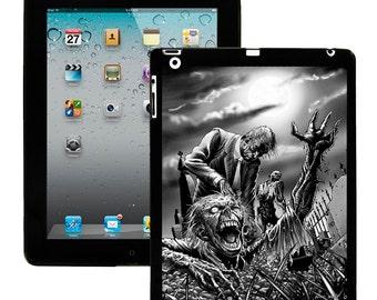 iPad 2/3/4 - iPad Mini - snap on plastic case - Zombie Brains