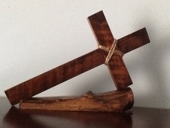 Wooden cross centerpiece by laughfactory on etsy
