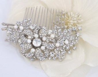 Sarah -  Rhinestone Bridal Comb