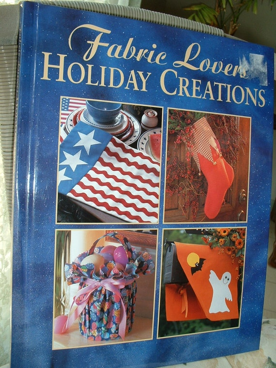 Fabric Hardcover Book : Hardcover book fabric lovers holiday creations christmas