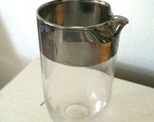 Silver Band Cocktail Pitcher