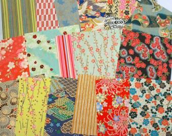 "Washi Yuzen Chiyogami Japanese Paper Pack of 10 sheets (4"" x 4"")"