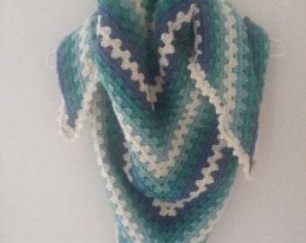Frozen Inspired Crochet Triangle Scarf
