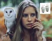 Owl Earrings, Sterling Silver Earrings, Bird Jewelry, Minimalist Earrings, Dangle Earrings, Animal Earrings, Birthday Gift for Her, HOOT