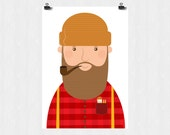 Woody the lumberjack and his little pocket friend  a4 art print